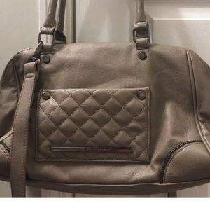 Steve Madden Leather Satchel Shoulder Bag Purse Lg